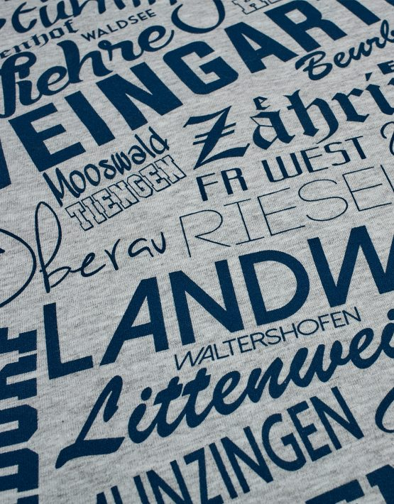 Freiburg T-Shirt Stadtteile